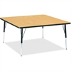 "Berries Adult Height Classic Color Top Squaree Table - Square Top - Four Leg Base - 4 Legs - 48"" Table Top Length x 48"" Table Top Width x 1.13"" Table Top Thickness - 31"" Height - Assembly Required - P"