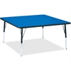 "Berries Adult Height Classic Color Top Square Table - Square Top - Four Leg Base - 4 Legs - 48"" Table Top Length x 48"" Table Top Width x 1.13"" Table Top Thickness - 31"" Height - Assembly Required - Po"