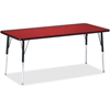 """Berries Adult Height Color Top Rectangle Table - Rectangle Top - Four Leg Base - 4 Legs - 72"""" Table Top Length x 30"""" Table Top Width x 1.13"""" Table Top Thickness - 31"""" Height - Assembly Required - Powd"""