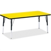 """Berries Elementary Height Color Top Rectangle Table - Rectangle Top - Four Leg Base - 4 Legs - 60"""" Table Top Length x 30"""" Table Top Width x 1.13"""" Table Top Thickness - Assembly Required - Powder Coate"""