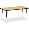 """Berries Adult Height Color Top Rectangle Table - Rectangle Top - Four Leg Base - 4 Legs - 30"""" Table Top Length x 60"""" Table Top Width x 1.13"""" Table Top Thickness - 15"""" Height - Assembly Required - Powd"""