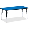 "Berries Adult Height Color Top Rectangle Table - Rectangle Top - Four Leg Base - 4 Legs - 60"" Table Top Length x 30"" Table Top Width x 1.13"" Table Top Thickness - 31"" Height - Assembly Required - Powd"
