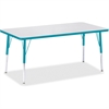 "Berries Adult Height Color Edge Rectangle Table - Rectangle Top - Four Leg Base - 4 Legs - 60"" Table Top Length x 30"" Table Top Width x 1.13"" Table Top Thickness - 31"" Height - Assembly Required - Pow"