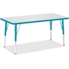 """Berries Elementary Height Color Edge Rectangle Table - Rectangle Top - Four Leg Base - 4 Legs - 48"""" Table Top Length x 24"""" Table Top Width x 1.13"""" Table Top Thickness - 24"""" Height - Assembly Required"""