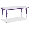 "Berries Elementary Height Color Edge Rectangle Table - Rectangle Top - Four Leg Base - 4 Legs - 48"" Table Top Length x 24"" Table Top Width x 1.13"" Table Top Thickness - 24"" Height - Assembly Required"