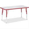 """Berries Adult Height Color Edge Rectangle Table - Rectangle Top - Four Leg Base - 4 Legs - 48"""" Table Top Length x 24"""" Table Top Width x 1.13"""" Table Top Thickness - 31"""" Height - Assembly Required - Pow"""