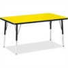 "Berries Adult Height Color Top Rectangle Table - Rectangle Top - Four Leg Base - 4 Legs - 48"" Table Top Length x 30"" Table Top Width x 1.13"" Table Top Thickness - 31"" Height - Assembly Required - Powd"