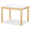 "Jonti-Craft Multi-purpose White Rectangle Tables - Rectangle Top - Four Leg Base - 4 Legs - 24"" Table Top Length x 30"" Table Top Width - 24"" Height - Assembly Required - Laminated, Maple"