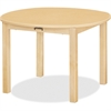 "Jonti-Craft Multi-purpose Maple Round Table - Round Top - Four Leg Base - 4 Legs - 30"" Table Top Length x 30"" Table Top Width x 30"" Table Top Diameter - 14"" Height - Assembly Required - Laminated, Map"