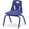 "Berries Stacking Chair - Steel Frame - Four-legged Base - Blue - Polypropylene - 19.5"" Width x 21"" Depth x 29.5"" Height"
