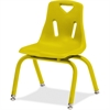"Jonti-Craft Berries Plastic Chair w/Powder Coated Legs - Steel Frame - Four-legged Base - Yellow - Polypropylene - 16.5"" Width x 14"" Depth x 21.5"" Height"