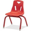 "Jonti-Craft Berries Plastic Chair w/Powder Coated Legs - Steel Frame - Four-legged Base - Red - Polypropylene - 16.5"" Width x 13.5"" Depth x 19.5"" Height"