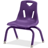 "Jonti-Craft Berries Plastic Chair w/Powder Coated Legs - Steel Frame - Four-legged Base - Purple - Polypropylene - 16.5"" Width x 13.5"" Depth x 19.5"" Height"