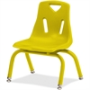 "Berries Stacking Chair - Steel Frame - Four-legged Base - Yellow - Polypropylene - 15.5"" Width x 13.5"" Depth x 20"" Height"
