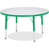 "Berries Toddler Height Color Edge Round Table - Round Top - Four Leg Base - 4 Legs - 1.13"" Table Top Thickness x 36"" Table Top Diameter - 15"" Height - Assembly Required - Powder Coated"