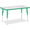 "Berries Adult Height Color Edge Rectangle Table - Rectangle Top - Four Leg Base - 4 Legs - 36"" Table Top Length x 24"" Table Top Width x 1.13"" Table Top Thickness - 31"" Height - Assembly Required - Pow"