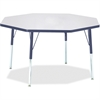 "Berries Adult Height Color Edge Octagon Table - Octagonal Top - Four Leg Base - 4 Legs - 1.13"" Table Top Thickness x 48"" Table Top Diameter - 31"" Height - Assembly Required - Powder Coated"