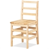 "Jonti-Craft KYDZ Ladderback Chair - Maple - Solid Hardwood - 17"" Width x 18"" Depth x 33"" Height"