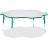 "Berries Prism Six-Leaf Student Table - Four Leg Base - 4 Legs - 1.13"" Table Top Thickness x 60"" Table Top Diameter - 31"" Height - Assembly Required - Powder Coated"