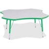 "Berries Prism Four-Leaf Student Table - 4 Legs - 1.13"" Table Top Thickness x 48"" Table Top Diameter - 15"" Height - Assembly Required - Green, Powder Coated"