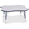 "Berries Prism Four-Leaf Student Table - Four Leg Base - 4 Legs - 1.13"" Table Top Thickness x 48"" Table Top Diameter - 15"" Height - Assembly Required - Powder Coated"