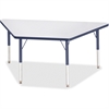 "Berries Elementary Height Prism Edge Trapezoid Table - Trapezoid Top - Four Leg Base - 4 Legs - 60"" Table Top Length x 30"" Table Top Width x 1.13"" Table Top Thickness - 24"" Height - Assembly Required"
