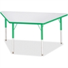 """Berries Adult-sz Gray Laminate Trapezoid Table - Trapezoid Top - Four Leg Base - 4 Legs - 60"""" Table Top Length x 30"""" Table Top Width x 1.13"""" Table Top Thickness - 31"""" Height - Assembly Required - Powd"""