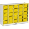 "Rainbow Accents Cubbie-Tray Mobile Storage - 25 Compartment(s) - 35.5"" Height x 48"" Width x 15"" Depth - Yellow - Rubber - 1Each"