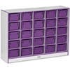 "Rainbow Accents Cubbie-Tray Mobile Storage - 25 Compartment(s) - 35.5"" Height x 48"" Width x 15"" Depth - Purple - Rubber - 1Each"
