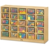 "Jonti-Craft 25 Cubbie-Tray with Clear Bins - 35.5"" Height x 48"" Width x 15"" Depth - Baltic - Acrylic, Rubber - 1Each"