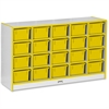 "Rainbow Accents 20 Cubbie-Tray - 29.5"" Height x 48"" Width x 15"" Depth - Yellow - Rubber - 1Each"