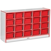 "Rainbow Accents 20 Cubbie-Tray - 29.5"" Height x 48"" Width x 15"" Depth - Red - Rubber - 1Each"