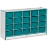 "Rainbow Accents 20 Cubbie-Tray - 29.5"" Height x 48"" Width x 15"" Depth - Teal - Rubber - 1Each"