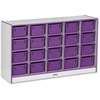 "Rainbow Accents 20 Cubbie-Tray - 29.5"" Height x 48"" Width x 15"" Depth - Purple - Rubber - 1Each"
