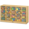 "Jonti-Craft 20 Cubbie-Tray with Clear Bins - 29.5"" Height x 48"" Width x 15"" Depth - Baltic - Acrylic, Rubber - 1Each"