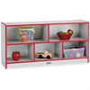 "Rainbow Accents Low Open Single Storage Shelf - 29.5"" Height x 48"" Width x 15"" Depth - Red - Rubber - 1Each"