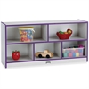 "Rainbow Accents Low Open Single Storage Shelf - 29.5"" Height x 48"" Width x 15"" Depth - Purple - Rubber - 1Each"