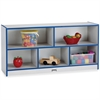 "Rainbow Accents Low Open Single Storage Shelf - 29.5"" Height x 48"" Width x 15"" Depth - Blue - Rubber - 1Each"