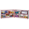 "Rainbow Accents Fold-n-Lock Storage Shelf - 35.5"" Height x 96"" Width x 15"" Depth - Red - Hard Rubber - 1Each"
