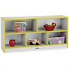 """Rainbow Accents Toddler Single Storage - 24.5"""" Height x 48"""" Width x 15"""" Depth - Yellow - Rubber - 1Each"""
