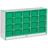 "Rainbow Accents 20 Cubbie-Tray - 29.5"" Height x 48"" Width x 15"" Depth - Green - Rubber - 1Each"