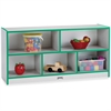 "Rainbow Accents Low Open Single Storage Shelf - 29.5"" Height x 48"" Width x 15"" Depth - Black - Rubber - 1Each"