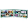 "Rainbow Accents Fold-n-Lock Storage Shelf - 29.5"" Height x 96"" Width x 15"" Depth - Green - Hard Rubber - 1Each"