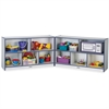 "Rainbow Accents Fold-n-Lock Storage Shelf - 29.5"" Height x 96"" Width x 15"" Depth - Navy, Navy Blue - Hard Rubber - 1Each"