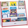 "Rainbow Accents Flushback Pick-a-Book Stand - 5 Compartment(s) - 1"" - 27.5"" Height x 30"" Width x 13.5"" Depth - Red - 1Each"