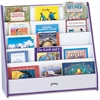 "Rainbow Accents Laminate 5-Shelf Pick-a-Book Stand - 5 Compartment(s) - 1"" - 27.5"" Height x 30"" Width x 13.5"" Depth - Purple - 1Each"