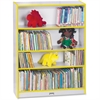 "Rainbow Accents Book Rack - 48"" Height x 36.5"" Width x 11.5"" Depth - Yellow - 1Each"