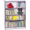 "Rainbow Accents Book Rack - 48"" Height x 36.5"" Width x 11.5"" Depth - Purple - 1Each"