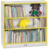 "Rainbow Accents Book Rack - 36"" Height x 36.5"" Width x 11.5"" Depth - Yellow - 1Each"