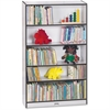 "Rainbow Accents Book Rack - 59.5"" Height x 36.5"" Width x 11.5"" Depth - Black - 2 / Each"
